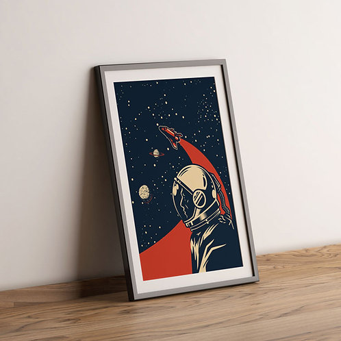 Vintage Poster Astronaut