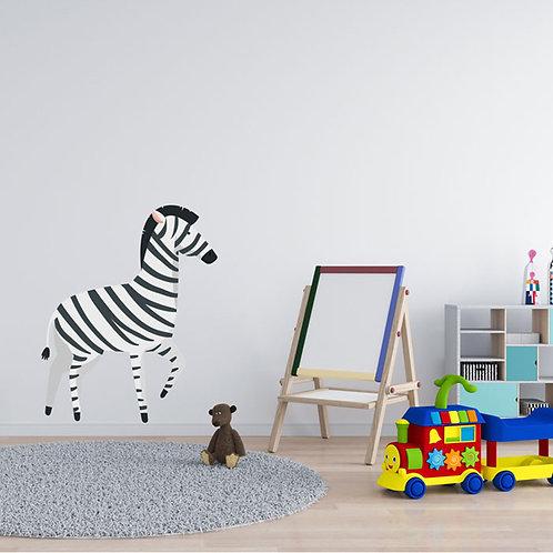 Zebra Ilustração Quarto Criança - Vinil Decorativo