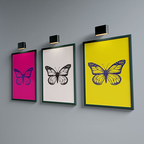 Butterfly Magenta - Bug Collection