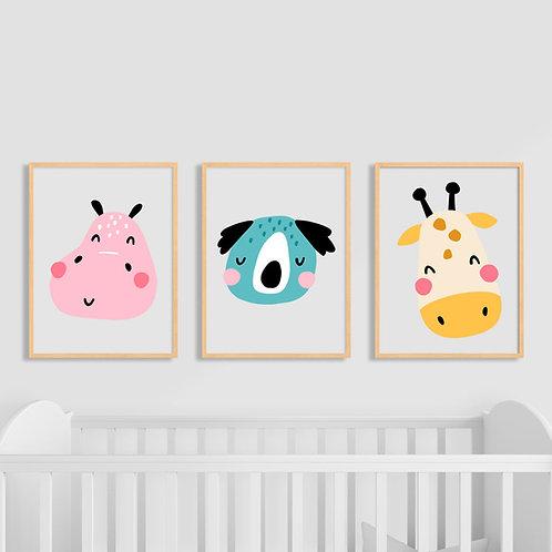 Poster Animais Ilustração Infantil