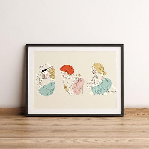Elegant Line Art Women