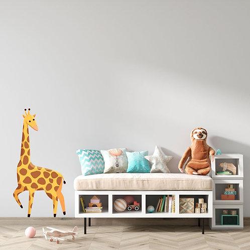 Girafa Ilustração Quarto Criança - Vinil Decorativo
