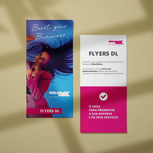 Folheto / Flyer DL 100x210mm