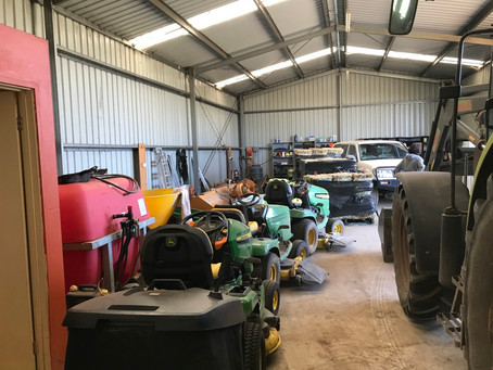 A neat and tidy (and full) shed.