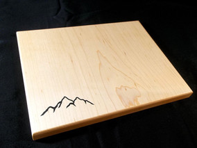 Mountain Inlay Cutting Board - Maple