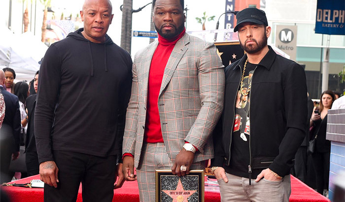 50 Gets His Star on the Hollywood  Walk of Fame