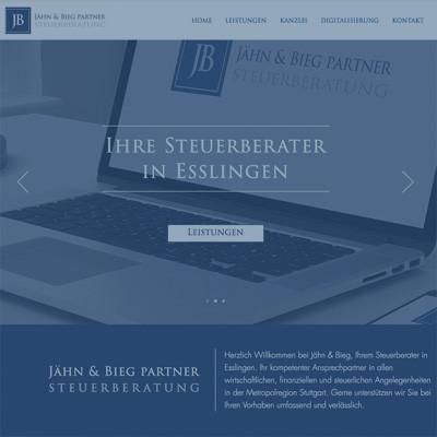 """Jähn & Bieg Partner"" Web Design & Web Development | Brand Management"