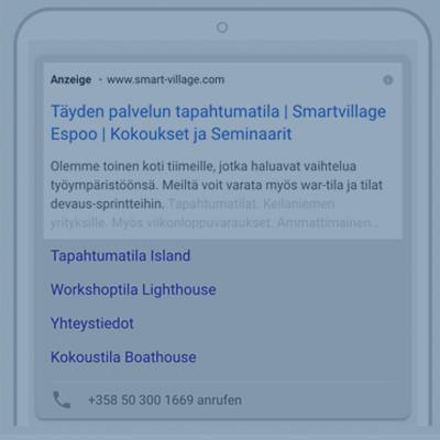"""SmartVillage - Helsinki"" SEA - Search Engine Advertising (Google Ad Words)"