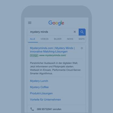 """Mystery Minds"" SEA - Suchmaschinenwerbung (Google Ad Words)"