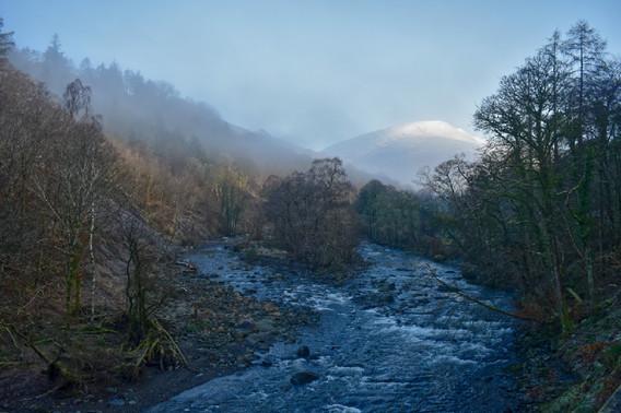 River Greta & Blencathra in Winter