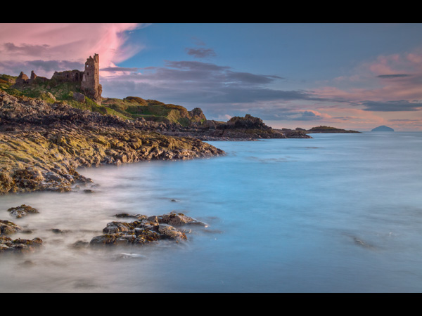 Dunure Castle and Ailsa Craig 2
