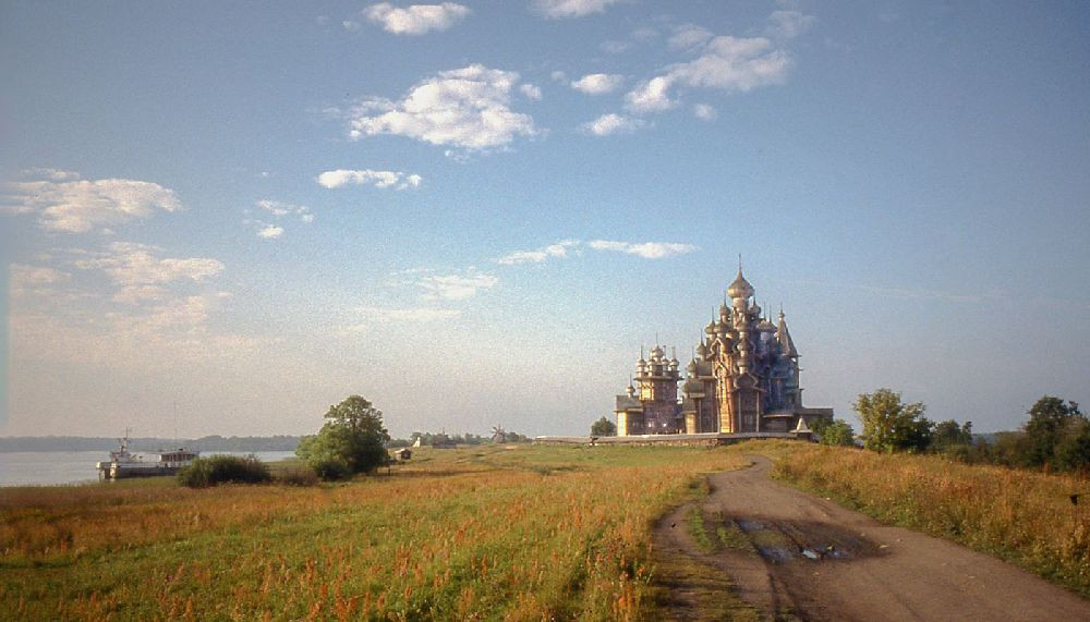 A WOODEN  CHURCH ON THE VOLGA