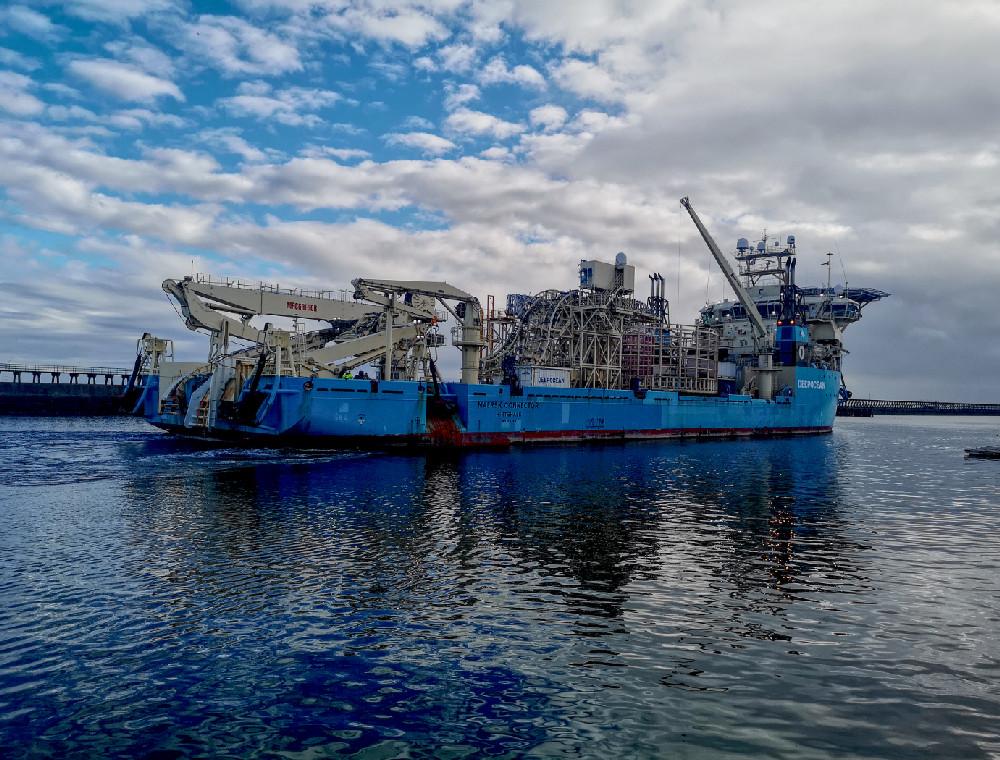 Ship Leaving Blyth Harbour