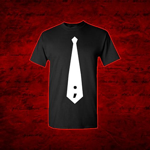 Frontman White Tie/ND Logo T-Shirt (Front & Back Design)