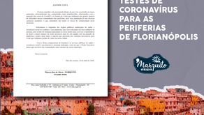 TESTES DE CORONAVÍRUS PARA AS PERIFERIAS DE FLORIANÓPOLIS