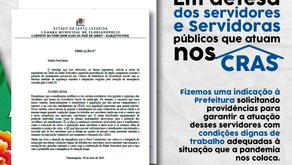 Em defesa dos servidoras e servidores públicos que atuam nos CRAS