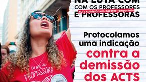 PROTOCOLAMOS UMA INDICAÇÃO A FAVOR DOS ACTs!