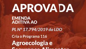 Agroecológica e Segurança Alimentar: Nossa emenda foi aprovada na LDO.