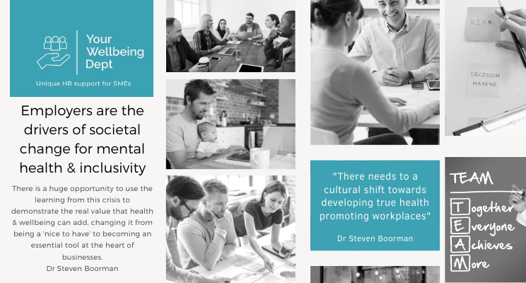 Employers are the drivers of societal change for mental health and inclusivity