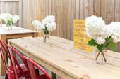 Custom Built Wood Farm Tables