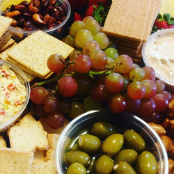 Did you know we can make you a custom party tray! These one features our roasted veggie dip and cinn