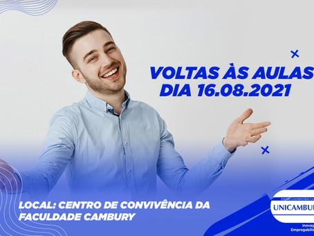 COMUNICADO INÍCIO DAS AULAS PARA CALOUROS 2021/2