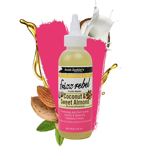 Aunt Jackie's Growth Oil Frizz Rebel Coconut &  Sweet Almond Growth Oil