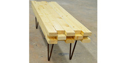 Bench or table pine hairpin legs