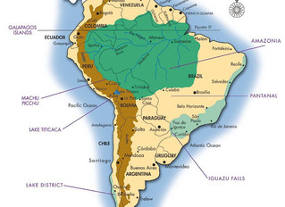 Map of Amazon planned for National Geographic Magazine