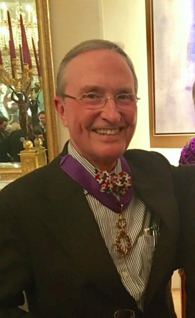 Lovejoy recipient of the insignia of Commandeur de L'Ordre des Palmes Academiques Nov 14 2016 Embassy of France