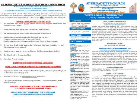 Parish Newsletter - Sunday 21st June 2020