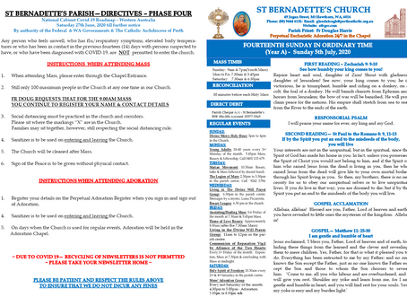 Parish Newsletter - Sunday 18th October 2020