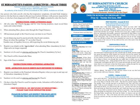 Parish Newsletter - Sunday 28th June 2020