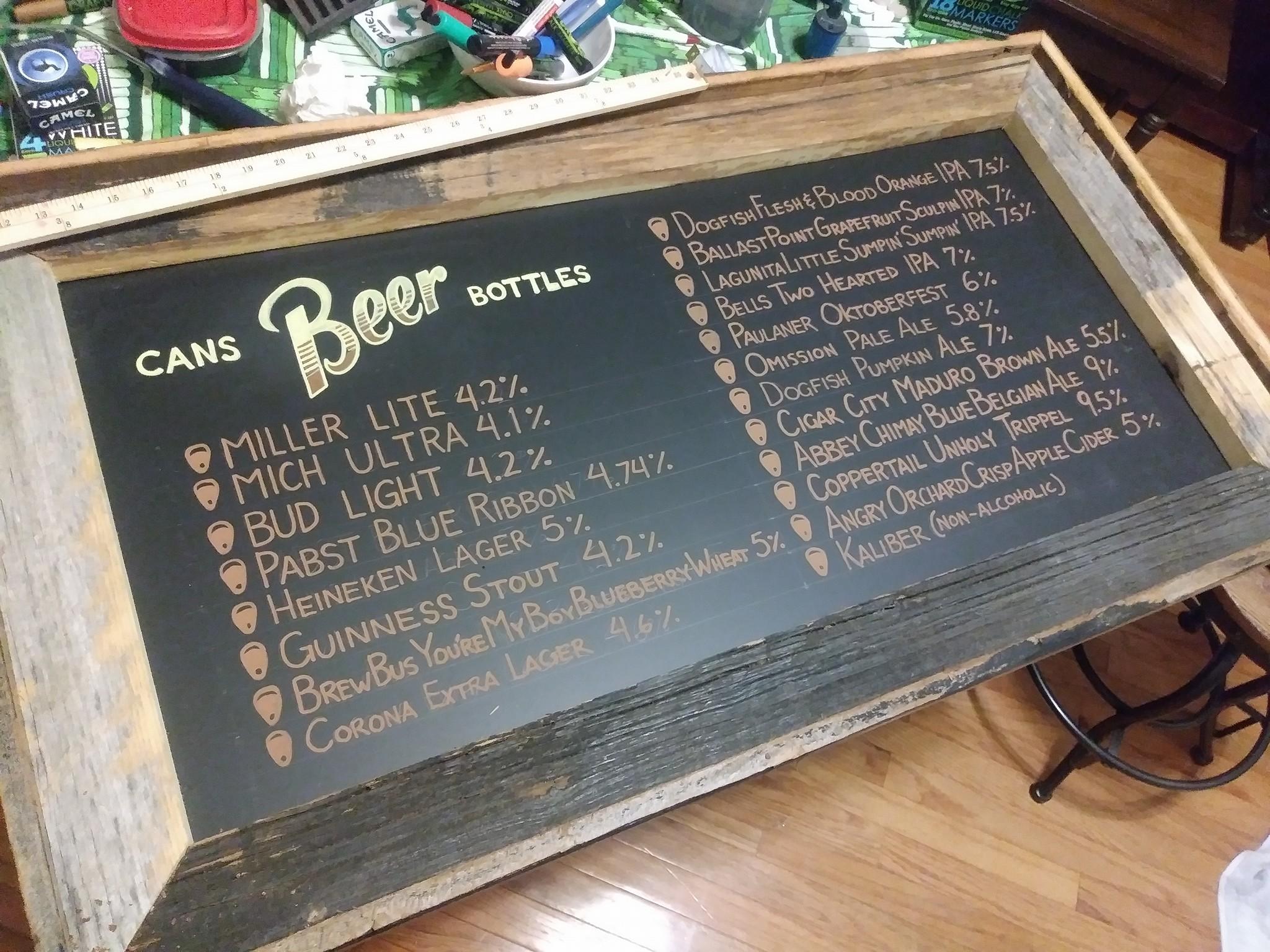 Noble Crust - Beer List