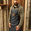 Thumbnail: Division Waxed Look Denim Bib Apron With Faux Leather