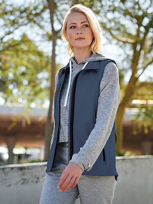 Padded Gilet with Detachable Hood