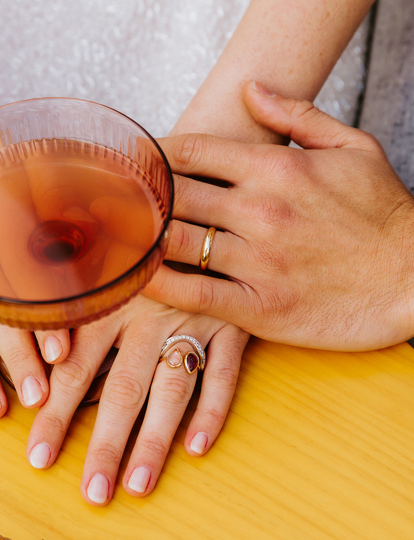 Alliance homme sur-mesure en or rose 18 carats Marion Jeantet
