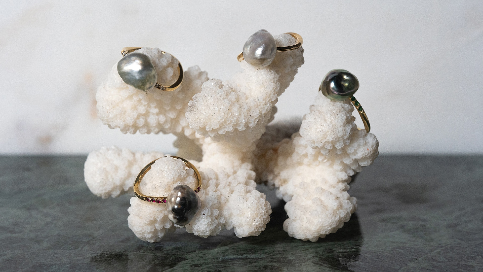 Bagues perlées