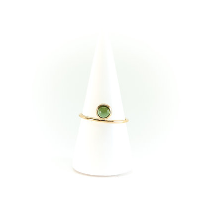 BAGUE NINA TOURMALINE - OR JAUNE 18 CARATS