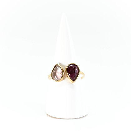 BAGUE ALBA TOURMALINE - OR ROSE 18 CARATS