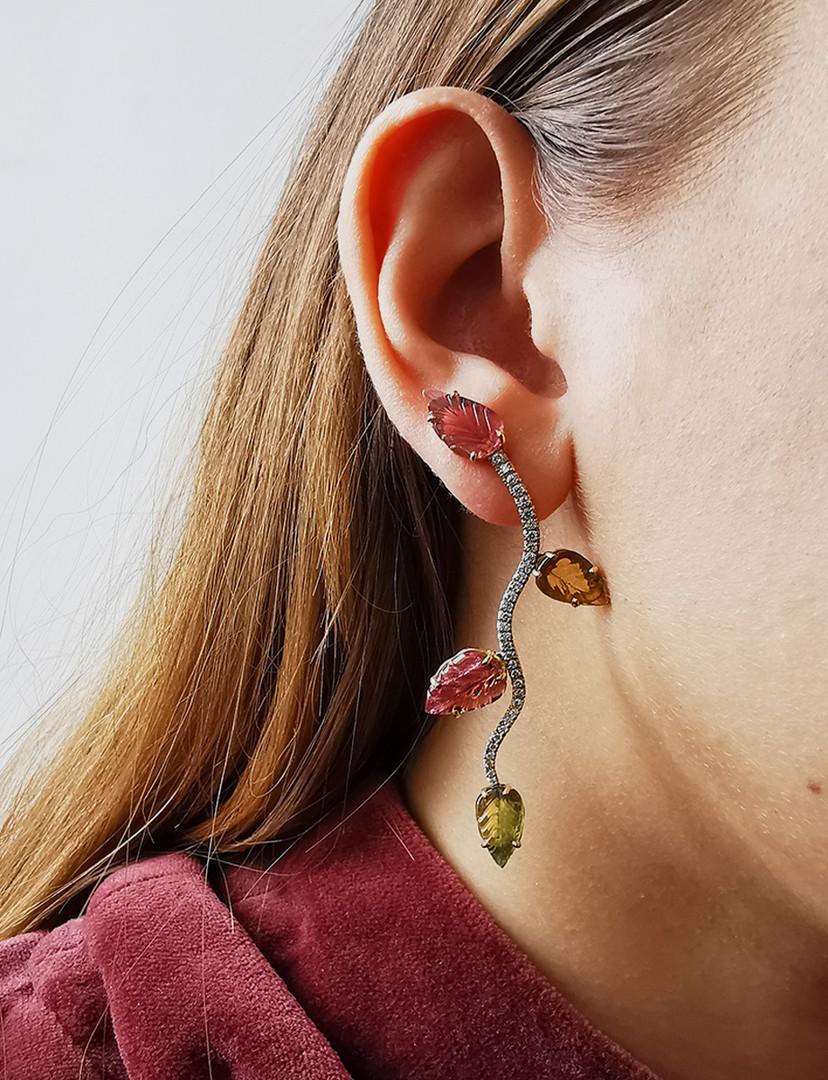 Boucles d'oreilles Vignes