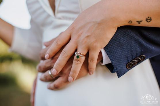 Bague de fiançailles et alliance sur-mesure