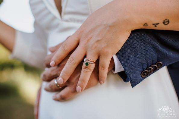 Bague de fiançailles et Alliance créées sur-mesure