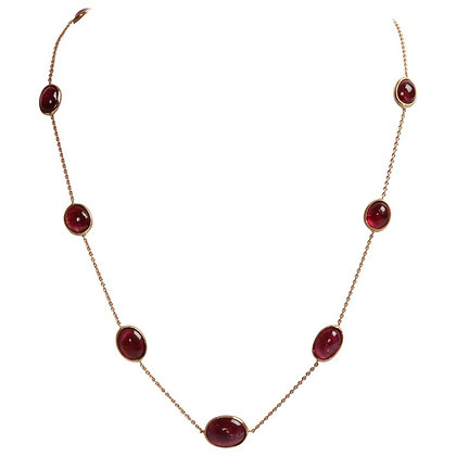 COLLIER AALIYAH TOURMALINE - OR ROSE 18 CARATS