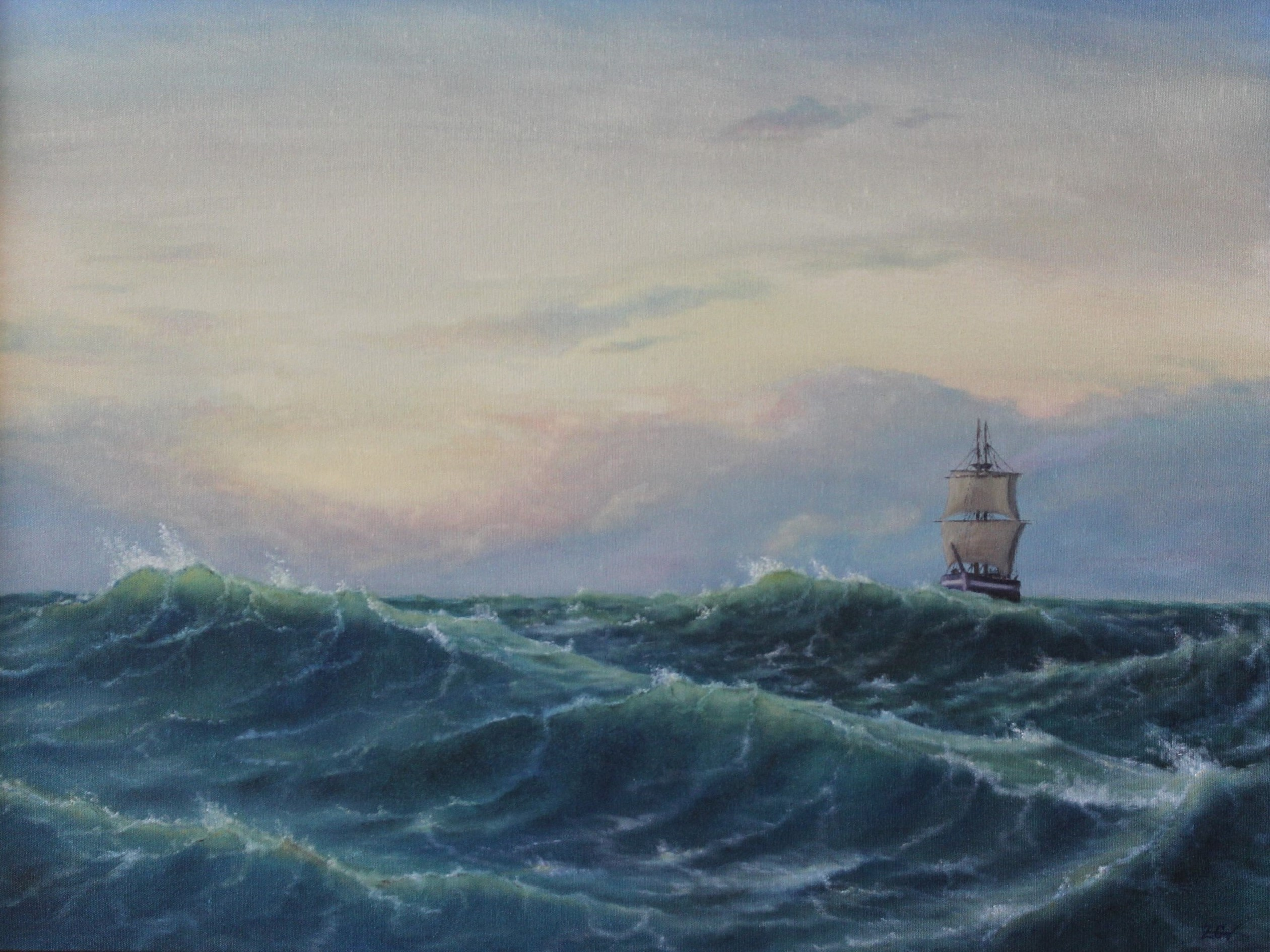 ''Through the waves.''