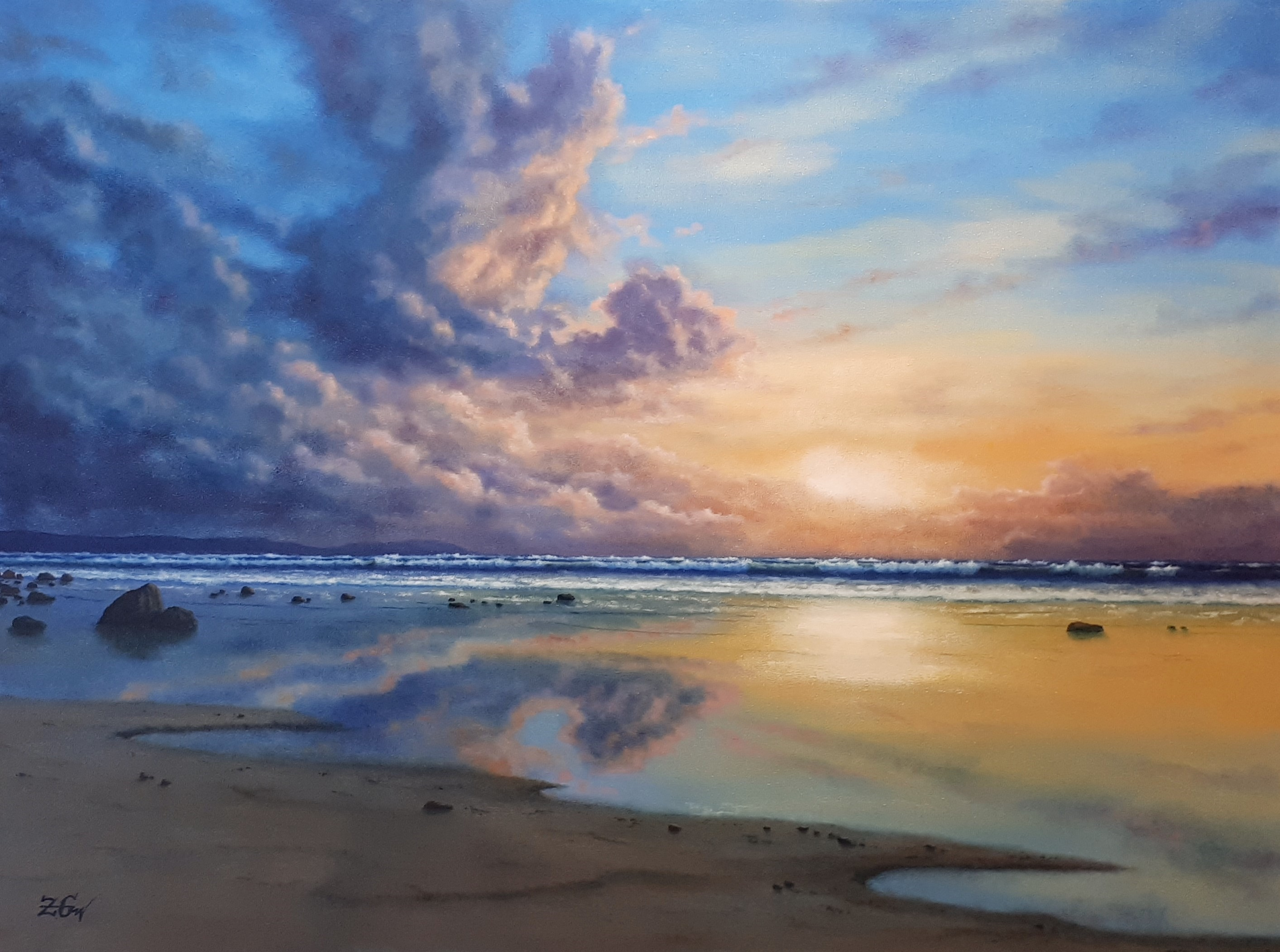 ''Evening mood with clouds''