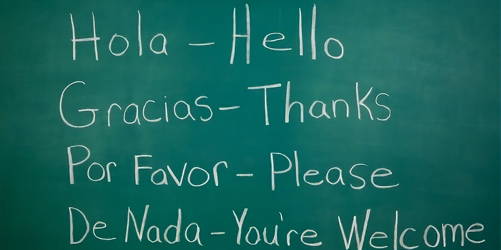 Intro to Spanish (Ages 5-14) 2:15pm-3:15pm   Thursdays