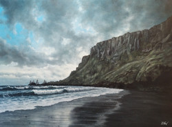 Cliffs near Vík í Mýrdal, Iceland.