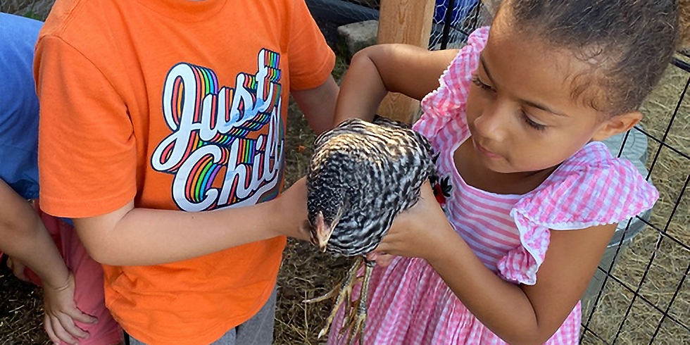 GARDENING AND ANIMAL CARE - AGES 5-7 - THURSDAYS 12:30PM-3:30PM