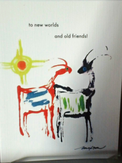 Card, Friend new world